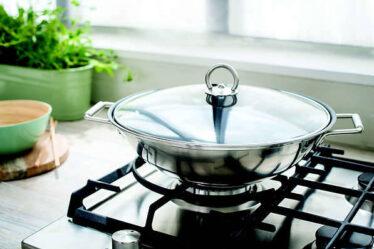 Sartén wok de acero