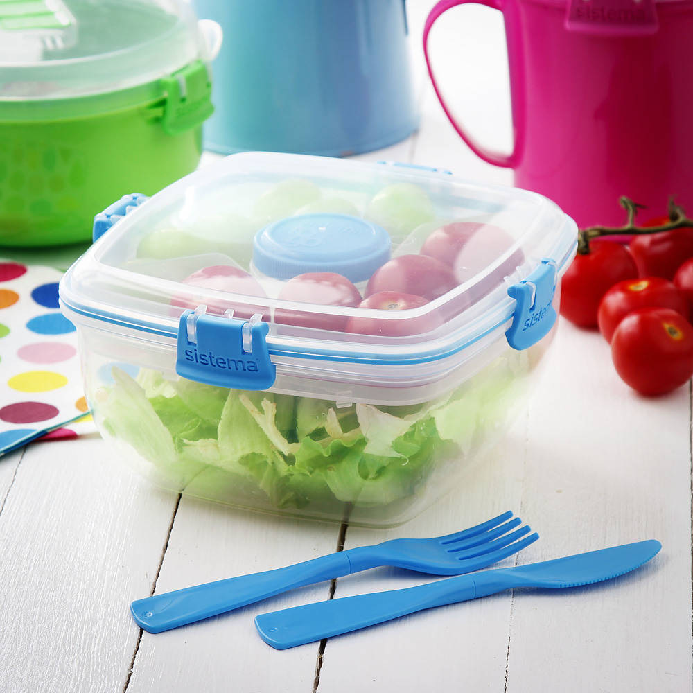Recipiente de plástico para almacenamiento de alimentos Sistema