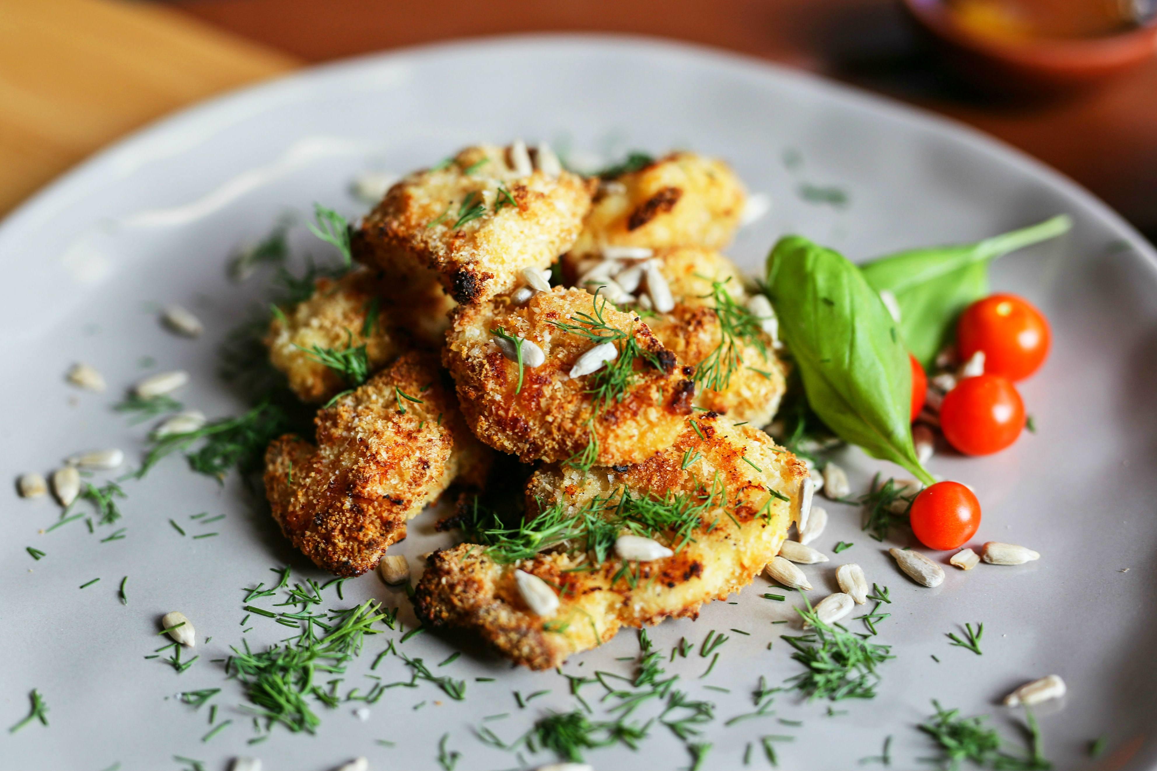 Nuggets de pollo con cobertura de coco