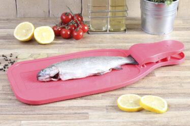 Tabla para raspar y recortar pescado