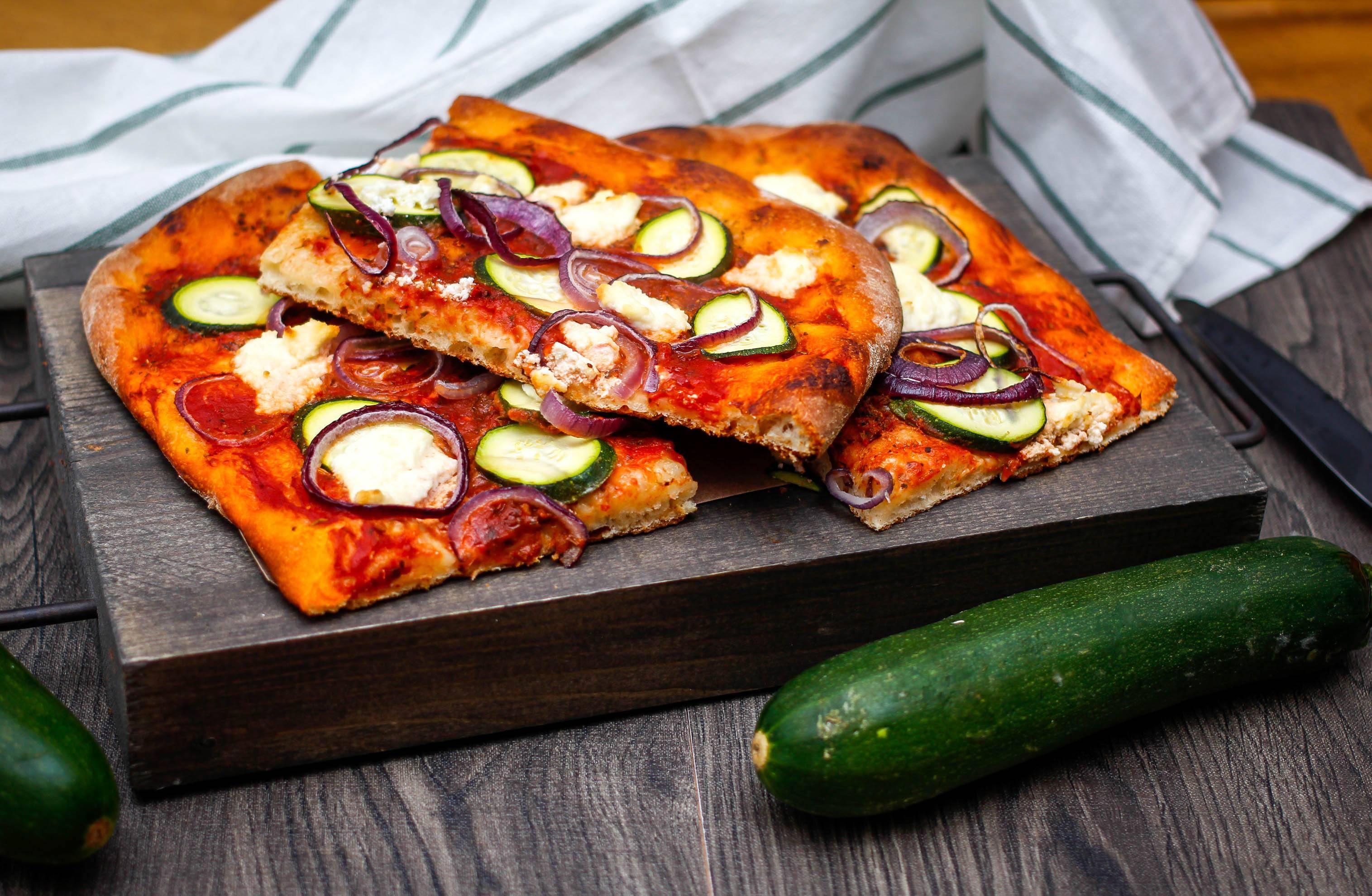 Pizza con calabacín