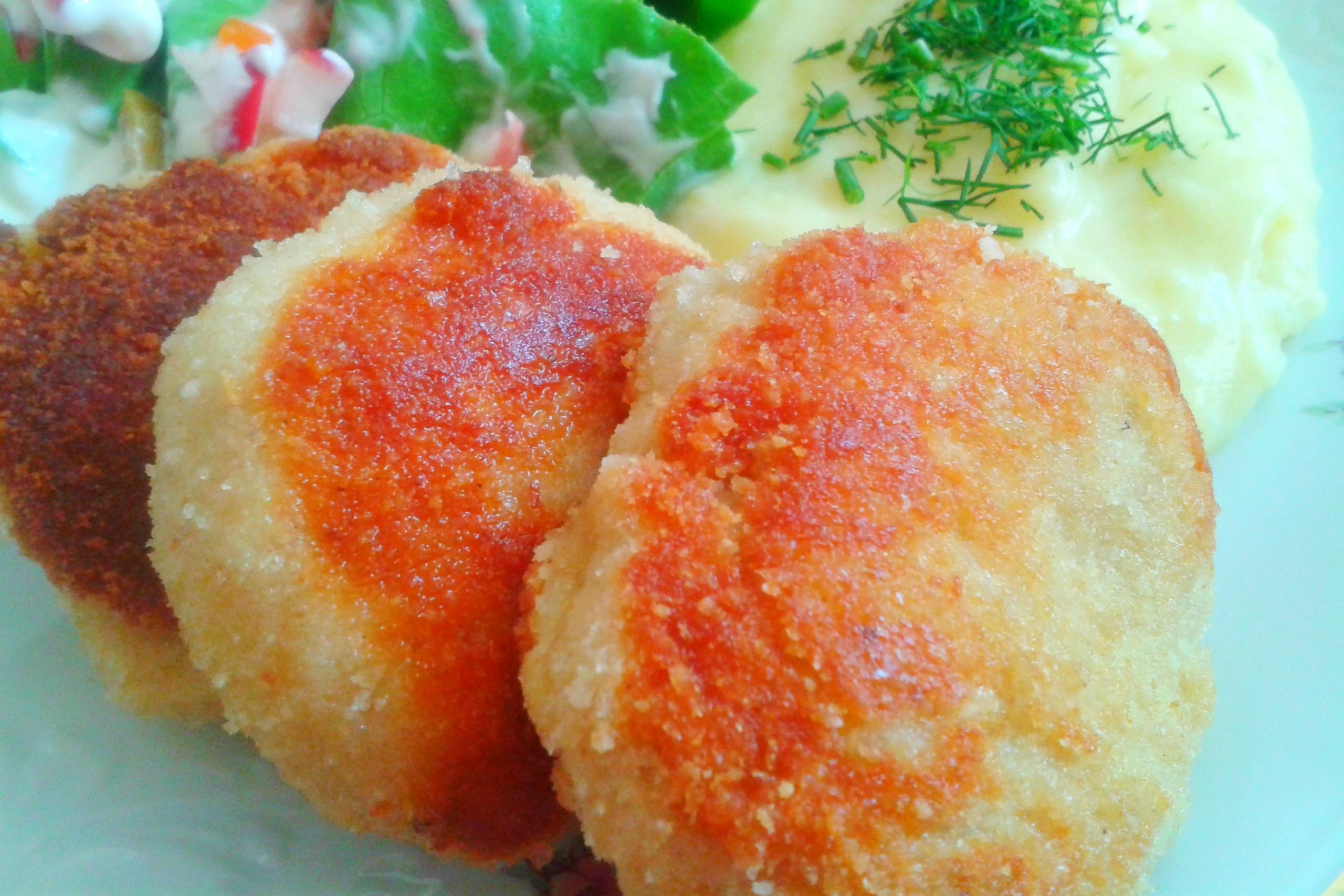 Recetas de chuletas de patata con queso y jamón
