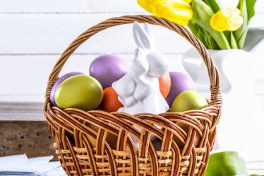 Cesta de Pascua para la cesta de Pascua